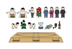 相撲のイラスト詰め合わせ